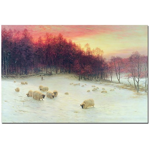 "Trademark Global Joseph Farquharson ""Glowing Evening Hours in the West"" Canvas Art, 16"" x 24"""