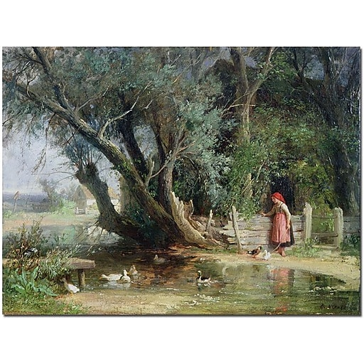 "Trademark Global Wouter Kniff ""The Duck Pond"" Canvas Art, 24"" x 32"""