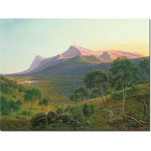 "Trademark Global Eduard Heinel ""Aborigines by a Fire"" Canvas Art, 35"" x 47"""