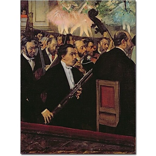 "Trademark Global Edgar Degas ""The Opera Orchestra, 1870"" Canvas Art, 24"" x 18"""