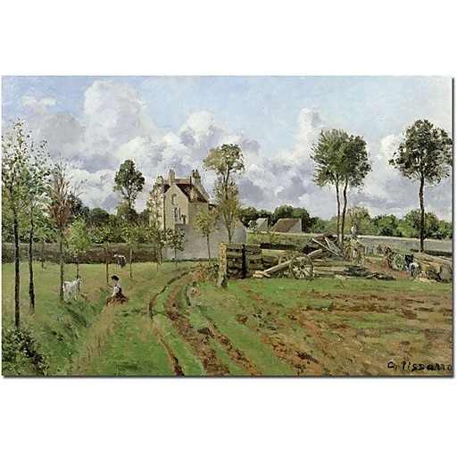 "Trademark Global Camille Pissarro ""Louveciennes, 1872"" Canvas Art, 30"" x 47"""