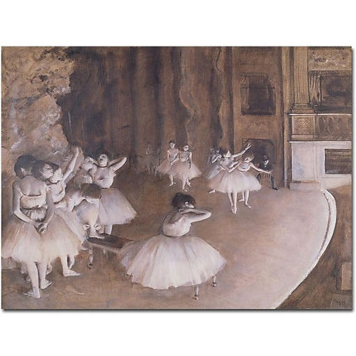 "Trademark Global Edgar Degas ""Ballet Rehearsal, 1874"" Canvas Art, 18"" x 24"""