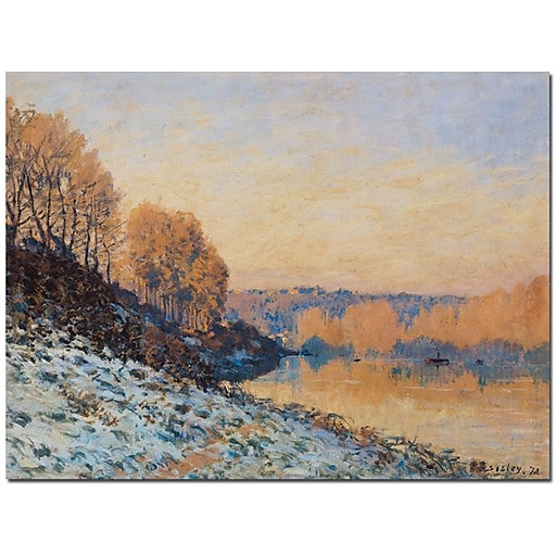 "Trademark Global Alfred Sisley ""Port Marly, White Frost, 1872"" Canvas Art, 18"" x 24"""
