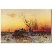 "Trademark Global Julius Klever ""Winter Landscape"" Canvas Art, 30"" x 47"""