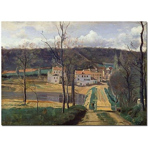 "Trademark Global Jean Baptiste Corot ""Ville d'Avray 1820"" Canvas Art, 35"" x 47"""