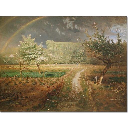 "Trademark Global Jean Francois Millet ""Spring at Barbizon, 1868"" Canvas Art, 24"" x 32"""
