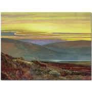 "Trademark Global John Atkinson Grimshaw ""A Lake Landscape at Sunset"" Canvas Art, 24"" x 32"""