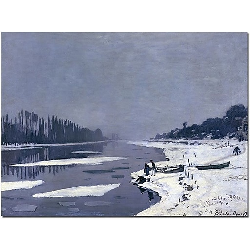 """Trademark Global Claude Monet """"Ice on Seine at Bougival, 1867-8"""" Canvas Art, 35"""" x 47"""""""