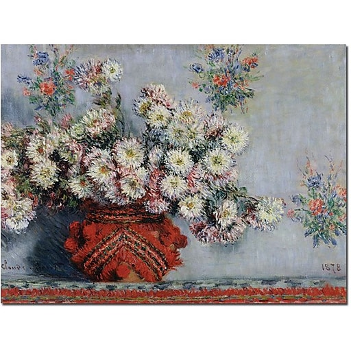 "Trademark Global Claude Monet ""Chrusanthemums, 1878"" Canvas Art, 14"" x 19"""