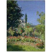 "Trademark Global Claude Monet ""Flowering Garden at Sainte Adresse"" Canvas Art, 19"" x 14"""