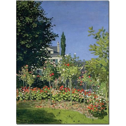 "Trademark Global Claude Monet ""Flowering Garden at Sainte Adresse"" Canvas Art, 19"" x 14"""