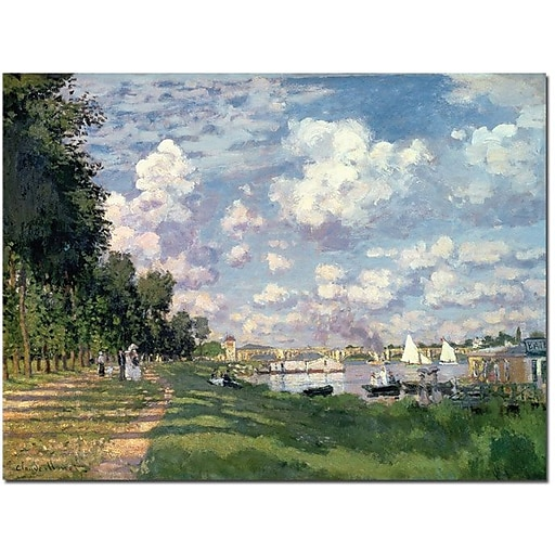 "Trademark Global Claude Monet ""The Marina at Argenteuil, 1872"" Canvas Art, 24"" x 32"""