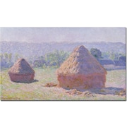 "Trademark Global Claude Monet ""Grainstacks on a Summer Morning 1891"" Canvas Art, 30"" x 47"""