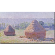 "Trademark Global Claude Monet ""Grainstacks on a Summer Morning 1891"" Canvas Art, 35"" x 47"""