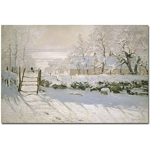 "Trademark Global Claude Monet ""The Magpie, 1869"" Canvas Art, 30"" x 47"""