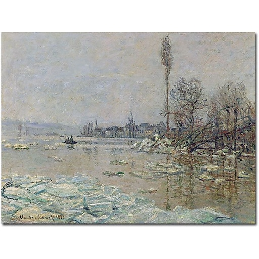 "Trademark Global Claude Monet ""The Breakup of Ice, 1880"" Canvas Art, 35"" x 47"""