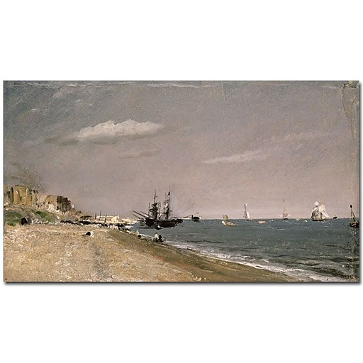 "Trademark Global John Constable ""Brighton Beach with Colliers, 1824"" Canvas Art, 30"" x 47"""