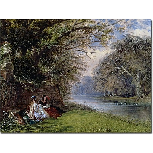 """Trademark Global John Buckley """"Young Ladies by the River"""" Canvas Art, 18"""" x 24"""""""