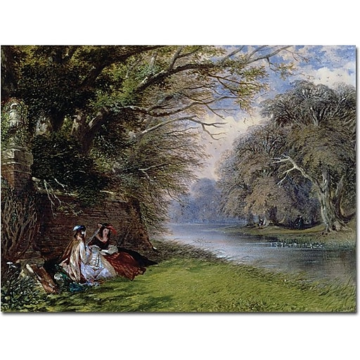 """Trademark Global John Buckley """"Young Ladies by the River"""" Canvas Art, 24"""" x 32"""""""