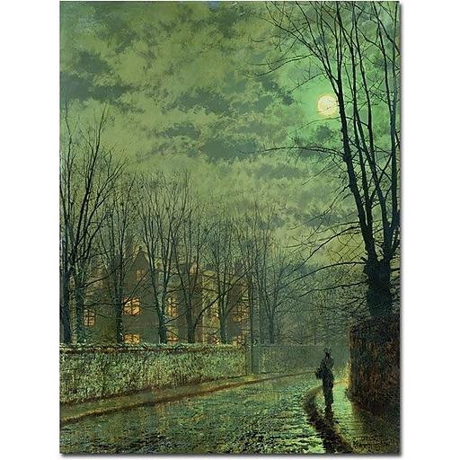"Trademark Global John Atkinson Grimshaw ""Going Home by Moonlight"" Canvas Art, 24"" x 18"""