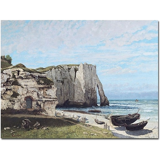 "Trademark Global Gustave Courbet ""The Cliffes at Etretat 1870"" Canvas Art, 26"" x 32"""