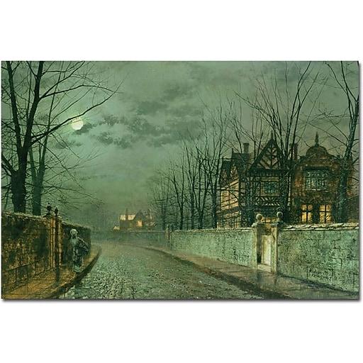 "Trademark Global John Atkinson Grimshaw ""Old English House 1883"" Canvas Art, 16"" x 24"""