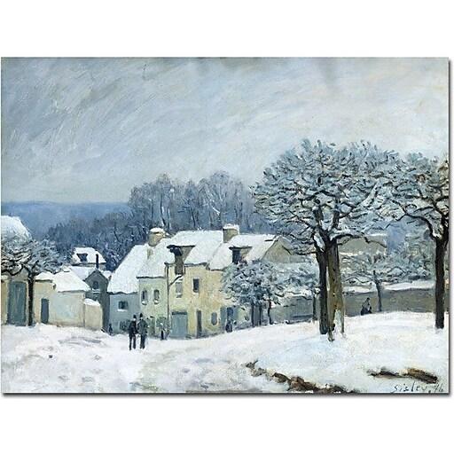 "Trademark Global Alfred Sisley ""Place du Chenil, Snow, 1876"" Canvas Art, 35"" x 47"""