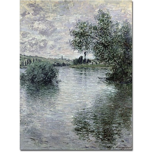 "Trademark Global Claude Monet ""Seine at Vetheuil, 1879"" Canvas Art, 47"" x 35"""