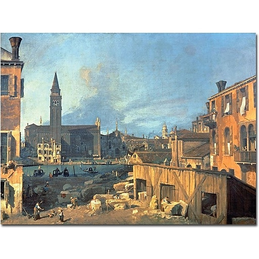"Trademark Global Canaletto ""Campo San Vidal and Santa Maria della Carita"" Canvas Art, 24"" x 32"""