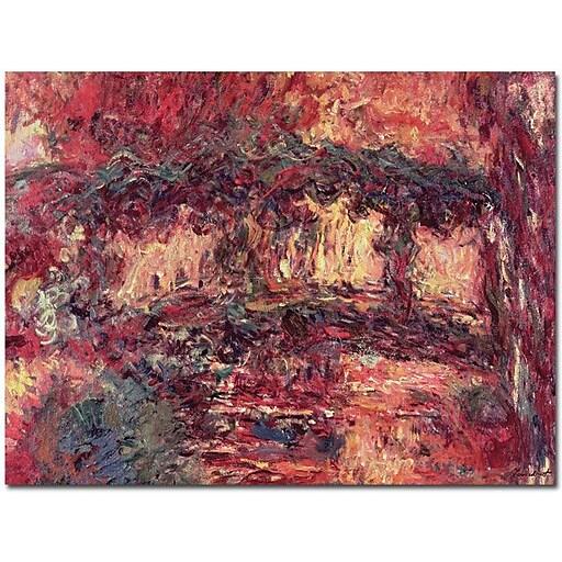 "Trademark Global Claude Monet ""Japanese Bridge at Giverny 1923"" Canvas Art, 18"" x 24"""