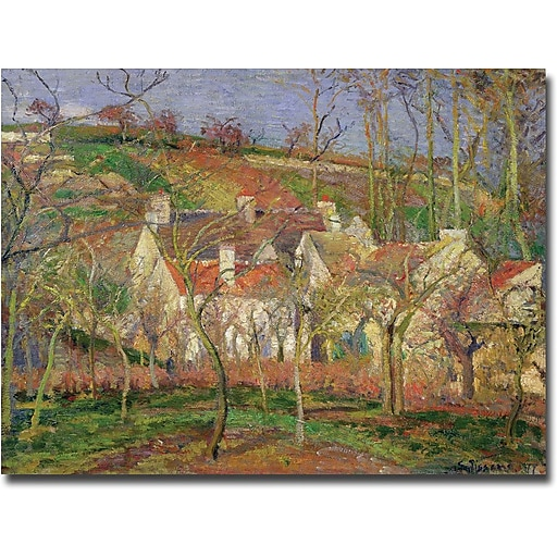 """Trademark Global Camille Pissarro """"The Red Roofs, Winter, 1877"""" Canvas Art, 26"""" x 32"""""""