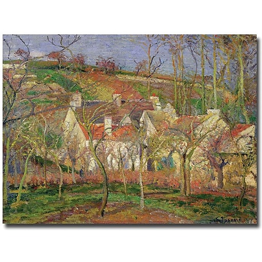 """Trademark Global Camille Pissarro """"Red Roofs, 1877"""" Canvas Art, 35"""" x 47"""""""
