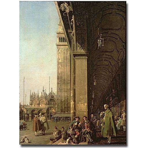 """Trademark Global Canaletto """"Piazza di San Marco, Venezzia"""" Canvas Art, 24"""" x 18"""""""