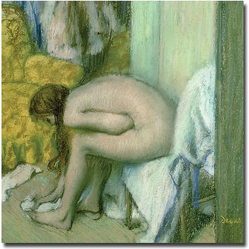 "Trademark Global Edgar Degas ""After the Bath, 1886"" Canvas Art, 35"" x 35"""