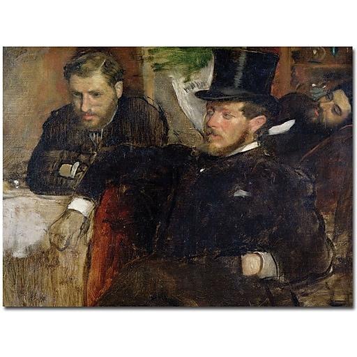 "Trademark Global Edgar Degas ""Jeantaud, Linet and Laine, 1871"" Canvas Art, 26"" x 32"""