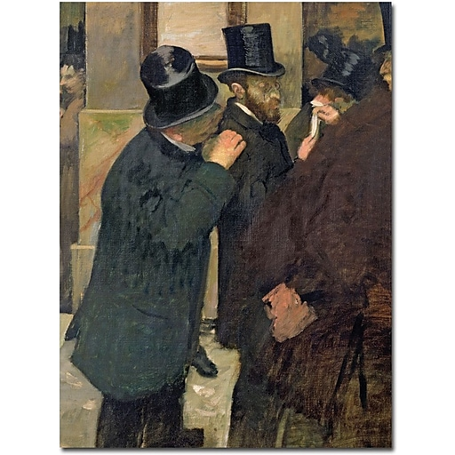 "Trademark Global Edgar Degas ""At the Stock Exchange 1878"" Canvas Art, 32"" x 26"""
