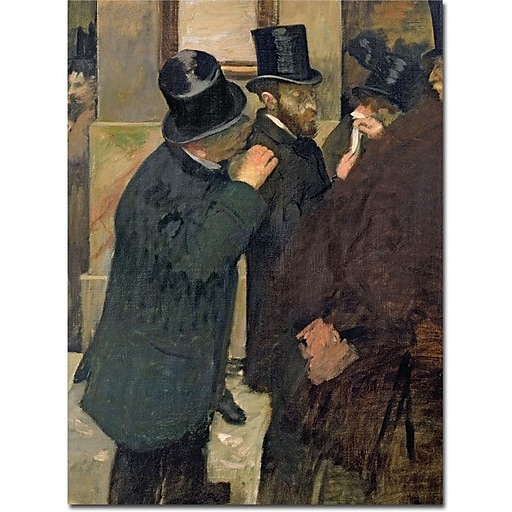 "Trademark Global Edgar Degas ""At the Stock Exchange 1878"" Canvas Art, 47"" x 35"""