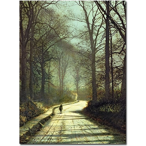 "Trademark Global John Atkinson Grimshaw ""Moonlight Walk"" Canvas Art, 32"" x 26"""