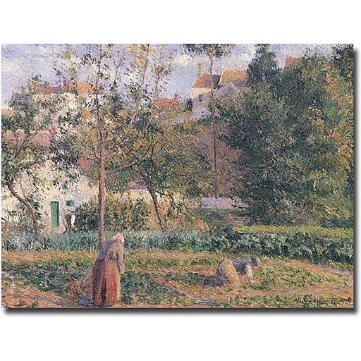 "Trademark Global Camille Pissarro ""Vegetable Garden, Pontoise, 1879"" Canvas Art, 18"" x 24"""