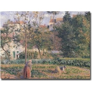 "Trademark Global Camille Pissarro ""Vegetable Garden, Pontoise, 1879"" Canvas Arts"