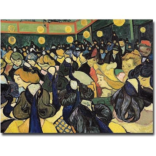 "Trademark Global Vincent Van Gogh ""The Dance Hall at Arles 1888"" Canvas Art, 26"" x 32"""