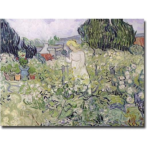 "Trademark Global Vincent Van Gogh ""Mademoiselle Gachet at Auvers-sur-Oise"" Canvas Art, 18"" x 24"""