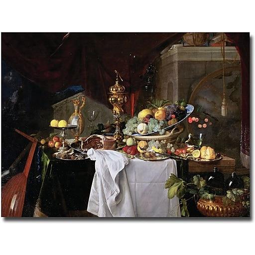"""Trademark Global Jan Davidz de Heem """"Still Life, 1640"""" Canvas Art, 18"""" x 24"""""""
