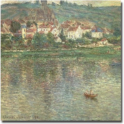"Trademark Global Claude Monet ""Vetheuil 1901"" Canvas Art, 18"" x 18"""