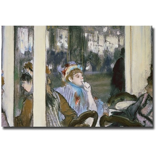 "Trademark Global Edgar Degas ""Women on a Cafe Terrace, 1877"" Canvas Art, 30"" x 47"""
