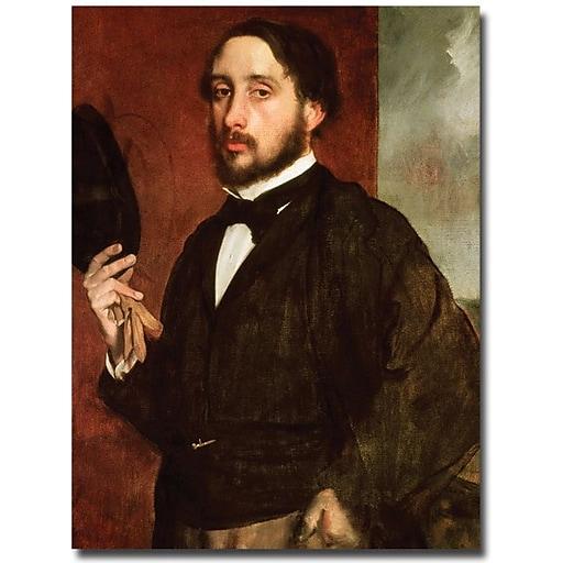 "Trademark Global Edgar Degas ""Self Portrait, 1862"" Canvas Art, 47"" x 35"""