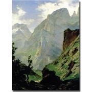 "Trademark Global Carlos de Haes ""Mountains in Europe, 1876"" Canvas Art, 24"" x 18"""