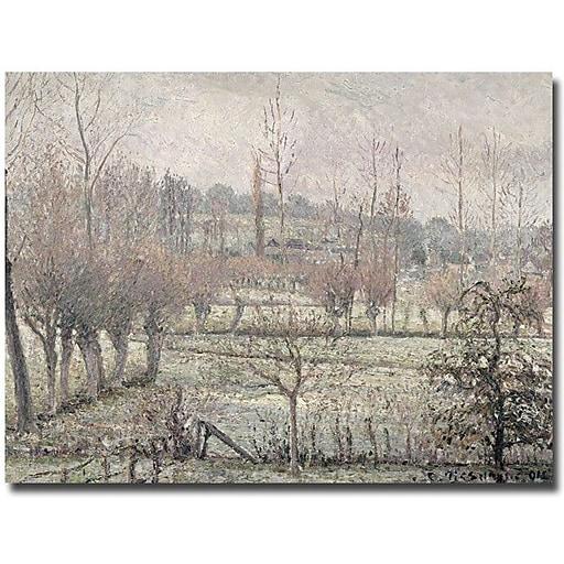 "Trademark Global Camille Pissarro ""Snow Effect at Eragny, 1894"" Canvas Art, 18"" x 24"""