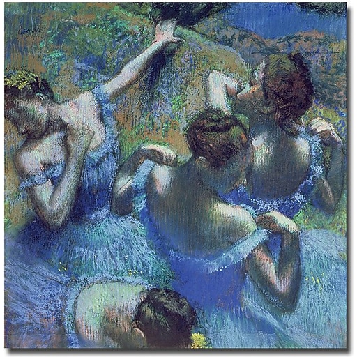 "Trademark Global Edgar Degas ""Blue Dancers 1899"" Canvas Art, 35"" x 35"""