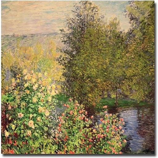 "Trademark Global Claude Monet ""Corner of the Garden at Montgeron, 1876"" Canvas Art, 35"" x 35"""